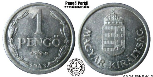 1943-as 1 pengő - (1943 1 pengő)